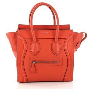 🎈Sale💕Céline Luggage Micro calfskin satchel